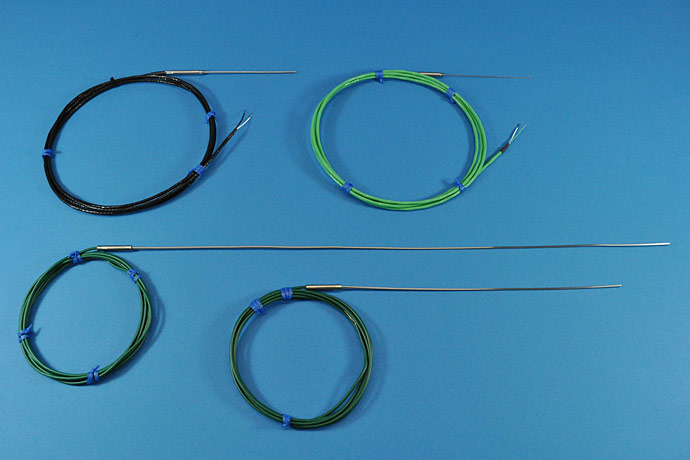 Metal sheathed thermocouples with cable
